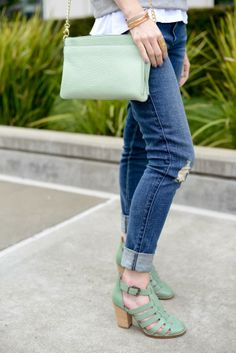 M Loves M goes daytime casual with our #Fossil Sydney top zip chain crossbody in #mint. #fossilstyle