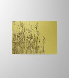Greeting Card Meadow in spring green perfect for Mother's Day because real flowers will fade Print Finishes, Spring Green, Real Flowers, Letterpress, Screen Printing, Greeting Cards, Stamp, Prints, Paper