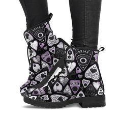Fashion Heart-Shaped Patterned Lace-Up Booties – bbshoop Lace Up Booties, Lace Up Heels, Vegan Boots, Flat Boots, Women's Boots, Cowboy Boots, Boot Brands, Casual Heels, Artificial Leather
