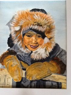Watercolour by phyliss Cree Indians, Indian Boy, Watercolour, My Arts, Journey, Age, Pictures, Painting, Pen And Wash