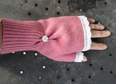 Como hacer mitones reciclando un viejo sweater