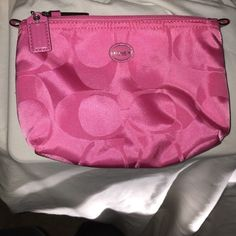 COACH Cosmetic Bag Brand new without tags and never used hot pink COACH cosmetic bag. In pristine condition. Coach Bags Cosmetic Bags & Cases