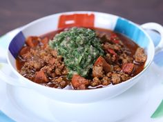 Argentine Chili With Chimichurri from FoodNetwork.com
