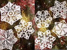 Free crochet picot snowflake patterns-can't decide which to try first!