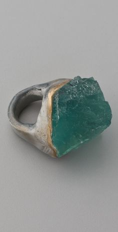 Adina Mills Design Green Fluorite Ring thestylecure.com