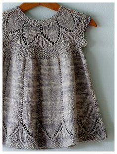 pretty litle dress - knitting pattern #dress #knitted #pattern