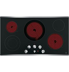 """Amazon.com: GE JP3536SJSS 36"""" Stainless Steel Electric Smoothtop Cooktop: Appliances"""