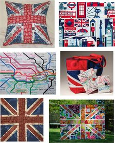 Quilt Inspiration: Free pattern day:  Union Jack quilts, pillows, iPad cover and other projects