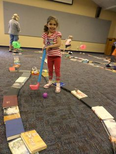 2015 Mini Golf. We turned the community room into a miniature golf course!