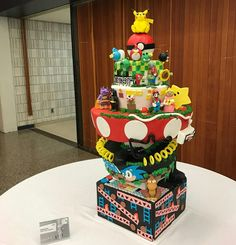 Our 1st place winning video game themed cake. 10th Annual BCC cake competition Advanced professional category.  www.facebook.com/carinaedolce  www.Carinaedolce.com #carinaedolce Cake Competition, Themed Cakes, Video Game, Birthday Cake, Community, Facebook, Desserts, Food, Theme Cakes