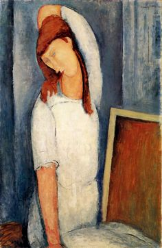 patrickhumphreys:  Amedeo Modigliani, Portrait of Jeanne Hébuterne, Left Arm behind Head, 1919.