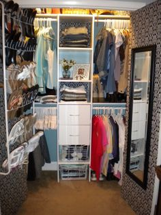 Small Closet Designs for Women   ... small, cramped, ranch style closet into spacious, walk-in closet that
