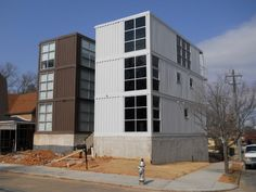 Shipping Container Homes: Runkle Consulting - Old Fourth Ward, Atlanta - 3 level Shipping Container Home