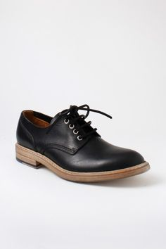 Buttero Round Toe Derby Shoes Black