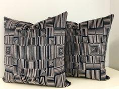 A Pair Black Velvet Pillow Covers, Black Pillow, Throw Pillows, Velvet Pillow, Black Cushion, Velvet Cushion, Decorative Black Pillow Covers by artdecopillow on Etsy