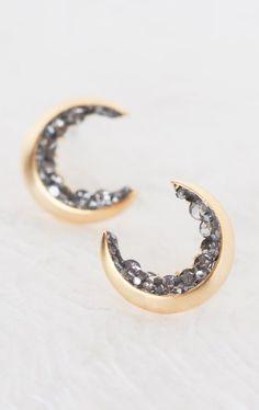 Exclusive Crescent Moon Stud Earrings
