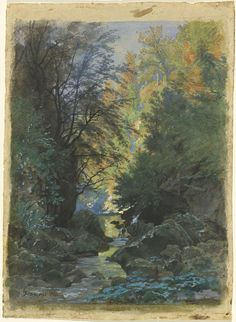 François-Louis Français (1814-1897) - A Stream Through a Dense Forest, 1884