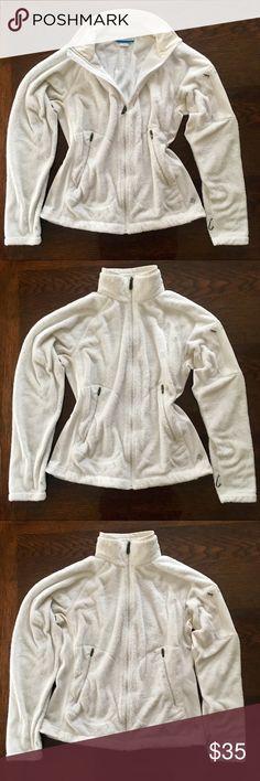 Columbia Snow White Fuzzy Zip Interchange Columbia white zip Interchange shell - just a little too big on me now - gently worn. Columbia Jackets & Coats