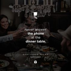 No phones at the table