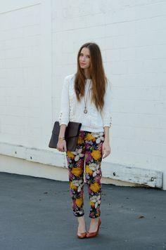 M Loves M pants party #floralpants #necklace