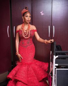 Traditional wedding attire - 40 Gorgeous Wedding Dress Styles For Your African Traditional Wedding – Traditional wedding attire Nigerian Wedding Dresses Traditional, Traditional Wedding Attire, African Traditional Dresses, African Lace Dresses, Latest African Fashion Dresses, Nigerian Lace Dress, Ankara Fashion, Emo Fashion, African Wedding Attire