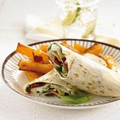 Deli wraps with pumpkin chips | Australian Healthy Food Guide