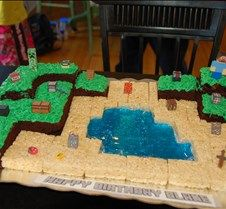 Blakes 7 Year Old Minecraft Birthday Cake Made By His Mom Eat Your Heart
