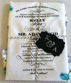 Unique Handkerchief Invitation. Charleston, SC: 2013.