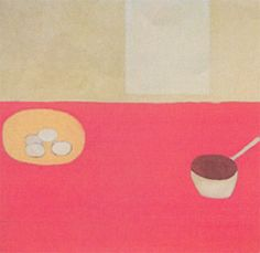 William Scott, White Pan, Yellow Bowl with 4 Eggs, 1984, Oil on canvas, 101.6 × 101.6 cm / 40 × 40 in, Whereabouts unknown Yellow Bowls, Spring Landscape, Show Me The Way, Painting Still Life, Italian Artist, Abstract Expressionism Art, Kitchen Art, Still Life Photography, Flower Art