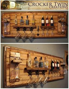 How to make a DIY Pallet Bar? - Diana Phoneix How to make a DIY Pallet Bar? - Is it your friend's birthday or some big event coming up in few days? If yes and you wanted to surprise him then making a DIY pallet bar is a great . Diy Bar, Diy Home Bar, In Home Bar Ideas, Bar Pallet, Pallet Wine, Homemade Bar, Palette Diy, Home Bar Designs, Diy Holz