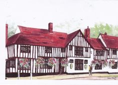 THE BULL, LONG MELFORD, SUFFOLK by Irene - Use the 'Create Similar' button to commission an artist to create your own artwork.