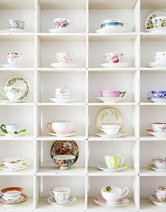 My husband needs to start work on shelves like these for me!