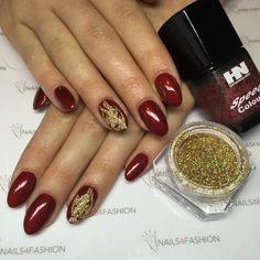Acrylic Hollywood Nails glitter nail art