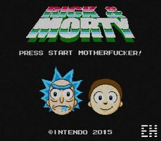 Rick and Morty, only for the Nintendo Entertainment System! (Awesome CRT effect by Zigazou) Rick And Morty Store, Rick And Morty Image, Ricky And Morty, Rick And Morty Poster, Hippie Painting, Get Schwifty, Rick Y, Animation, Cartoon Tv