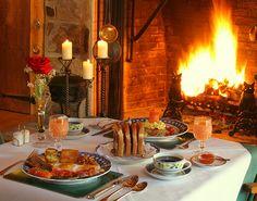Breakfast by firelight (3)  - The Inn at Bowman's Hill -New Hope - PA by The Inn at Bowman's Hill, New Hope , PA, via Flickr