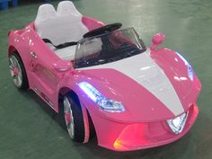 Ferrari Spider Style Kids Ride-On Car MP3 12V Battery Power Wheels R/C Parental Remote | Pink