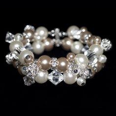Bridal bracelet Made by CyberCiska Bruidsarmband trouwarmband  #wedding #jewelry #trouwen #sieraden