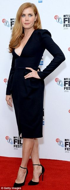 Ample assets: Parading her perky assets, the Oscar nominee avoided a wardrobe malfunction in the flirty number which featured a saucy front slit that exhibited her perfect pins