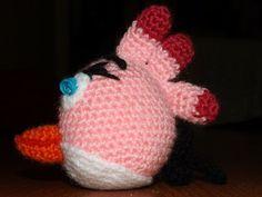 Amigurumis Ganchillo y mas: Angry bird rosa