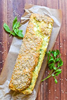 This feta and fresh herb quick bread is a cinch to make, and a favorite of French picnics and potlucks! Quick Bread Recipes, Veggie Recipes, Vegetarian Recipes, Cooking Recipes, Cake Feta, Savory Muffins, Party Dishes, Savoury Cake, Fresh Herbs