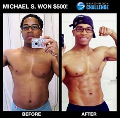 Excellent job Michael.  You can change too. You could be the next winner of $500 or up to $100,000. Ask me how. www.ryanwilliamsfitness.com
