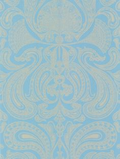 Cole & Son Malabar Wallpaper, Turquoise / Gold, 66/1001