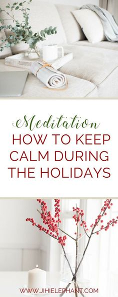 The holidays are a hectic time full of great times, but also full of stress and anxiety. It can sometimes be hard to stay calm and avoid these feelings. When experiencing holiday anxiety or… More Meditation Practices, Mindfulness Meditation, Meditation Corner, Good Mental Health, Mental Health Awareness, Stay Calm, Keep Calm, Meditation For Beginners, Positive Attitude