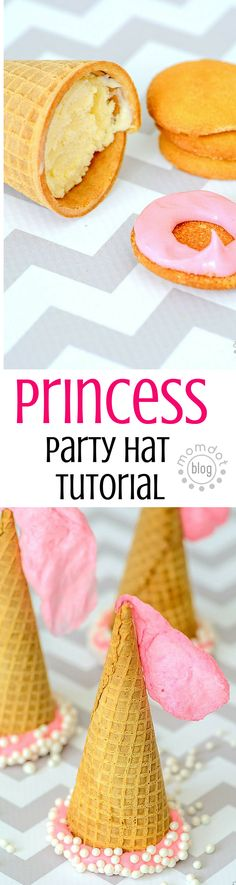 DIY Princess Party Hats, get your recipe and tutorial inspiriation