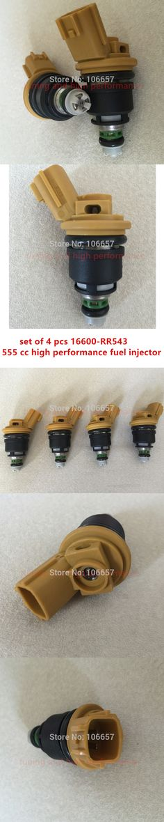 4# high performance 555cc Nismo side feed fuel injector 16600-RR543 yellow for nisaan 300ZX Z32 RB25DET VG30DETT SR20DET KA24