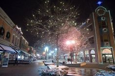 Old Town Fort Collins Christmas Lights Truly a beautiful sight!!