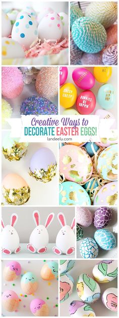 I love all of these Easter egg designs! I want to try them all but those bunny eggs are the cutest! DIY TUTORIALS
