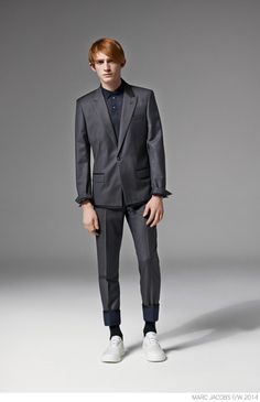 Marc Jacobs Unveils Modern Suiting for Fall/Winter 2014 image Marc Jacobs Fall Winter 2014 Collection Look Book Formal Suiting 021 800x1240
