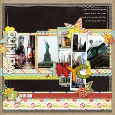 Scrapbook layout - travel - new york scrapbooking.