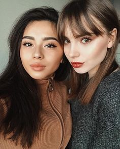 Pretty lips on the right